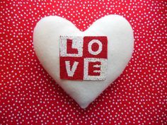 HEART PILLOW    Felt Pillow    LOVE    by naturali4color on Etsy, $50.00