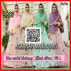 Baju Muslim Gamis Maxi Syari Askanah s607