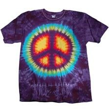 Our tie dye T vibrantly displays its colorful peace sign front and center. Made of 100% soft cotton, this T offers the ultimate in comfort.  $20.00