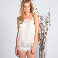 Samantha Chang Honeymoon Cami and Tap Short via Journelle - a great investment piece as the cami can be worn as outerwear after the wedding!