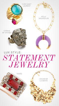 LUX Style: Statement Jewelry