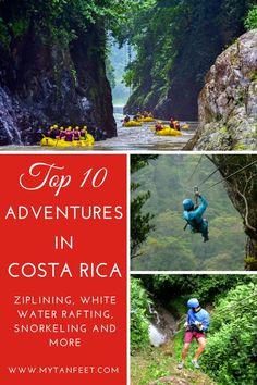 Top 10 adventures to have in Costa Rica. Click through to read more: http://mytanfeet.com/activities/adventure-activities-in-costa-rica/ Costa Rica   Costa Rica travel blog   Costa Rica travel tips