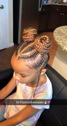 Kids Cornrow Hairstyles, Black Kids Braids Hairstyles, Little Girls Natural Hairstyles, Toddler Braided Hairstyles, Braids For Black Hair, Braids Hairstyles Pictures, Baby Girl Hairstyles, Protective Hairstyles, Feeder Braids Hairstyles