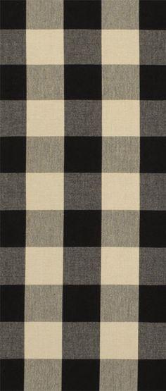 Covington Sandwell Black/Tan check Fabric  $16.05  per yard