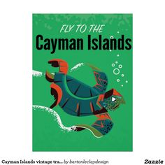 Cayman Islands vintage travel poster
