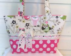 Sitn' in a Tree Cute Owls Quilted Purse / Tote / by MsSewItAll32, $40.00