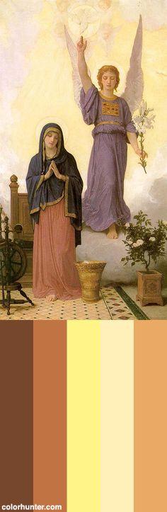 Bouguereau,+L'annonciation,+1888+Color+Scheme