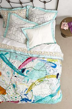 Anthropologie - Tradewinds Duvet. Turn your room into a travel dream. #Wanderlust