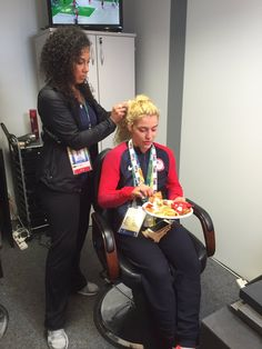 U.S. Olympic Team Retweeted  USA Wrestling ‏@USAWrestling  Aug 18 Olympic champion @helen_maroulis will be live on @nbcsn at 8pm ET! In hair & makeup now.