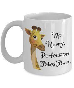 April the giraffe. No hurry mug.