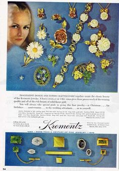 Wonderful 1968 KREMENTZ Ivory & Jade Jewelry Ad~Saturday Evening Post