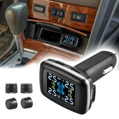 1set Car Cigarette Lighter TPMS Tire Pressure Monitor System+4 External Sensor