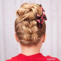 upside down pull-through to an updo
