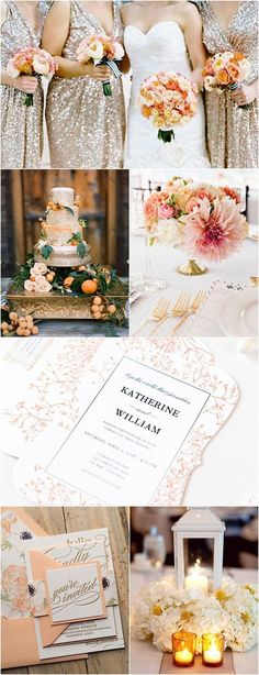 Color Inspiration: Citrus Orange and Gold Wedding ideas - MODwedding Mod Wedding, Fall Wedding, Rustic Wedding, Perfect Wedding, Wedding Reception, Wedding Color Schemes, Wedding Colors, Wedding Flowers, Color Inspiration
