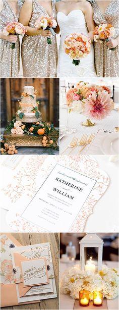 Color Inspiration: Citrus Orange and Gold Wedding ideas - MODwedding Gold Wedding Theme, Orange Wedding, Mod Wedding, Fall Wedding, Rustic Wedding, Orange Party, Double Wedding, Perfect Wedding, Wedding Color Schemes