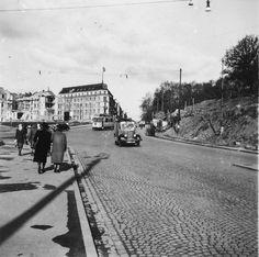 Drammensveien etter bombing 1942 Oslo, Building Front, Street View, Park, Pictures, Photos, Parks, Grimm