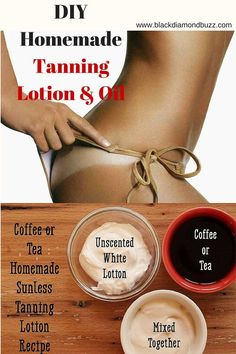DIY Natural Homemade Tanning Lotion & Oil