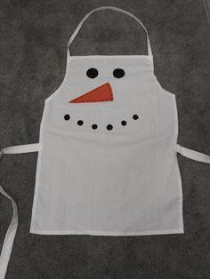 Delantal de muñeco de nieve de Navidad para niños