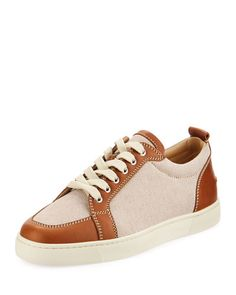 990b74233a7 Christian Louboutin Men s Rantulow Lace-Up Canvas Sneakers