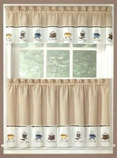 Simple Kitchen Valance cortina estampada | cortinas y ropa de cama | pinterest