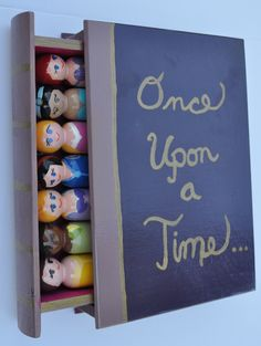 Princess Peg People with Book Travel Case. $65.00, via Etsy.