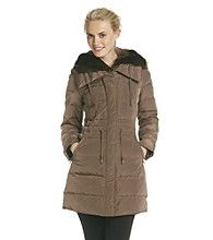 Laundry Faux Fur Trimmed Down-Blend Anorak Coat
