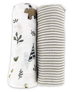 (http://www.spearmintlove.com/organic-cotton-muslin-swaddle-set-forest-friends/)