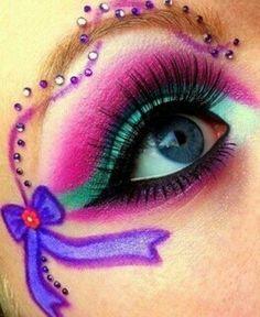 Eye art - pink and purple ribbon