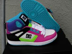 DC Rebound hi skate shoes! I love DC because I have bad ankles and they have a lot of support for the ankles and arches (my feet are flat).