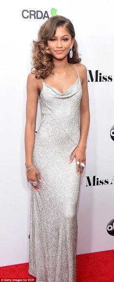 Stunning: Zendaya Coleman was certain to make an impression on the arrivals carpet...