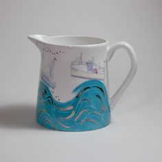 Seaside Milk Jug by Julia Davey £19 on Folksy
