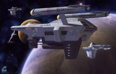 Mankind will always need truckers.... The freighter Ta Yun-Ho guides two other drone freighters towards a supply mission for the survivors of the disaster on Connors' World. Huron style freighter m...