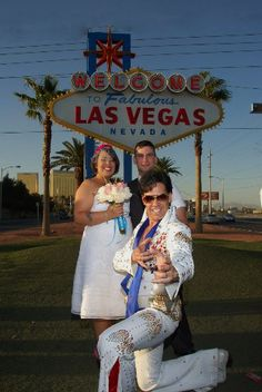 If I can't do Hawaii I'd totally be down for a Las Vegas wedding officiated by an Elvis impersonator!