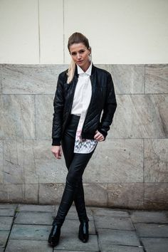 Leathers and a white shirt | Women's Look | ASOS Fashion Finder