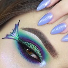 Visit the website for the make-up and Visit our website to see our amazing merma Visit the website for the make-up and Visit our website to see our amazing mermaid collection. Eye Makeup Art, Eye Art, Makeup Inspo, Beauty Makeup, Fish Makeup, Mauve Makeup, Face Beauty, Eyeshadow Makeup, Makeup Ideas