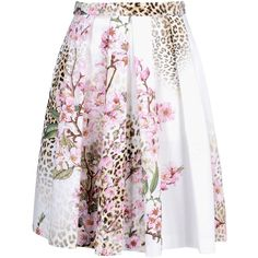 Blugirl Blumarine Knee Length Skirt (3,145 MXN) ❤ liked on Polyvore featuring skirts, bottoms, saias, ivory, knee length skirts, zipper skirt, pink pleated skirt, pink skirt and winter white skirt
