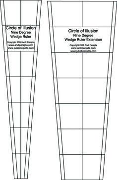 9-Degree Circle Wedge Ruler Set | Jukebox Quilts