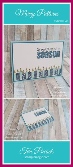 Merry Patterns By Stampin Up. Created by UK Independent Demonstrator Teri Pocock. Click through for more details.#teripocock #stampinup #stampinupuk #merrypatterns