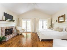 master bedroom with brick fireplace 19348 Flippins Westfield, IN, 46074