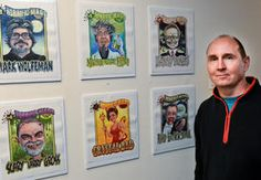 Artwork a spooky surprise for notable Charlestonians   - Charleston Daily Mail (Featuring my likeness. Quite an honor.)