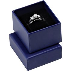Dark Blue Candy Collection Ring/Earring Box- ST61-4500:100006:T