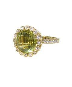 18kt Lemon Quartz ring from Katie Decker