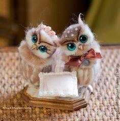 Toy animals, handmade. Fair Masters - handmade Sovushka on their golden wedding :). Handmade.