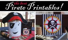 Pirate Printables and cute ideas for a pirate party