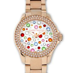 Capri Watch white face with rose gold band -MultiJoy Collection