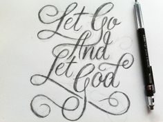 """""""Let go and let God"""" by Neil tasker// I would love to have this as a tattoo!"""