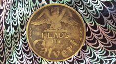 SUPER RARE CALVERT WHISKEY  LUCKY TOKEN COIN HEAD-TAIL IT'S CALVERT #CALVERT