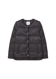 Mango Navy Quilted Jacket