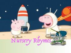 Peppa pig astronaut cartoon HEAD SHOULDERS KNEES AND TOES Nursery Rhyme ...
