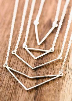 Alohilani necklace - silver V bar necklace by www.kealohajewelry.com https://www.etsy.com/listing/220422141